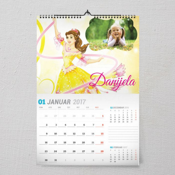 Princeza Bella poklon kalendar za  devojčicu
