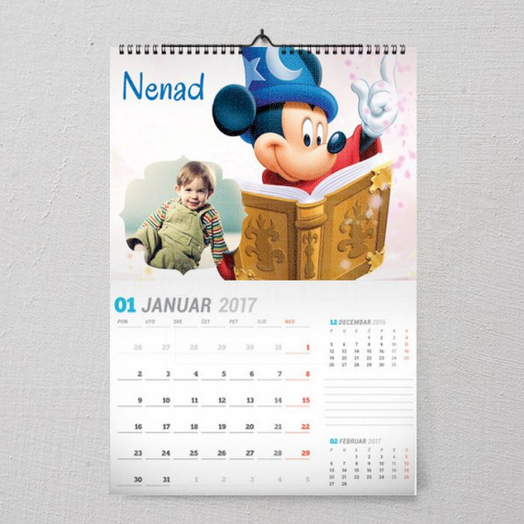 Miki čarobnjak poklon kalendar za dete