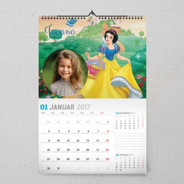 Snežana poklon kalendar za devojčice
