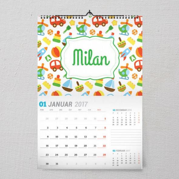 Autići poklon kalendar za dečake