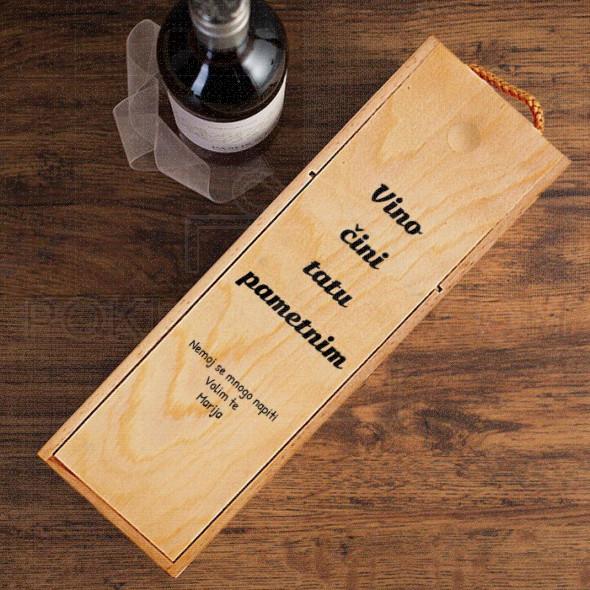 Vino za tatu  poklon kutija za vino