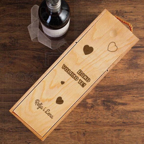 Bako, volimo te poklon kutija za vino