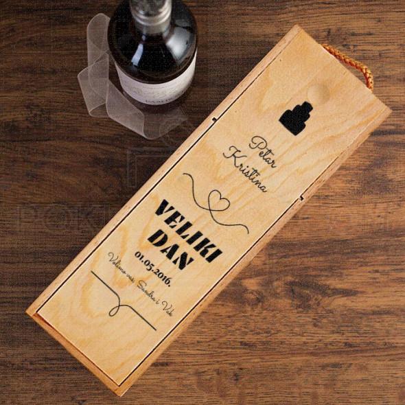 Veliki dan poklon kutija za vino