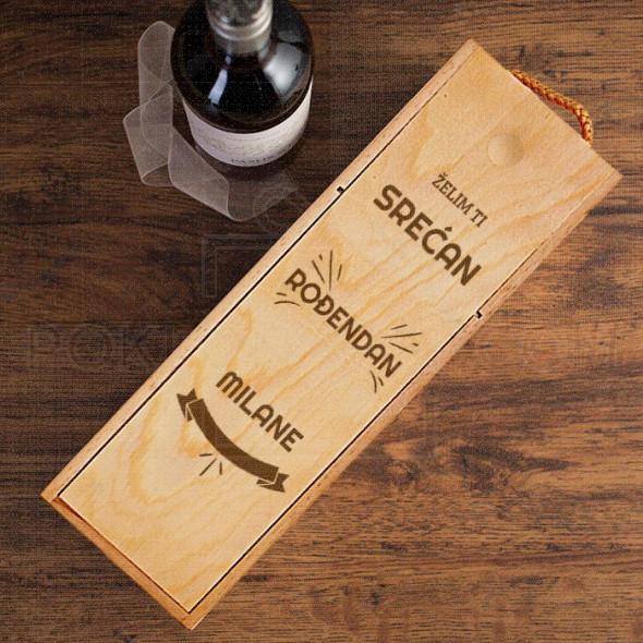 Želim ti srećan rođendan poklon kutija za vino