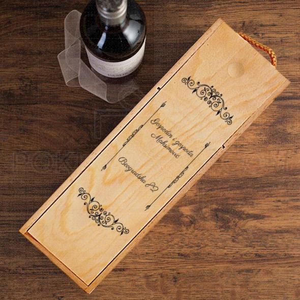 Gospodin i gospođa poklon kutija za vino