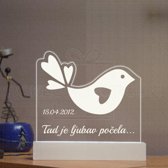 Ptičica poklon lampa