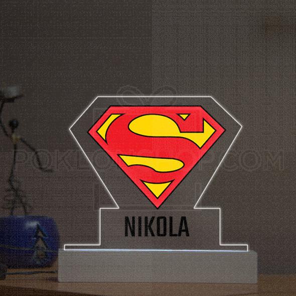 Supermen logo poklon lampa