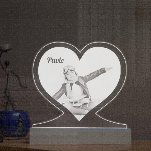 Slika u srcu poklon lampa