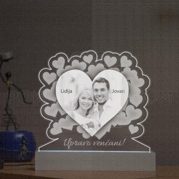 Upravo venčani poklon lampa