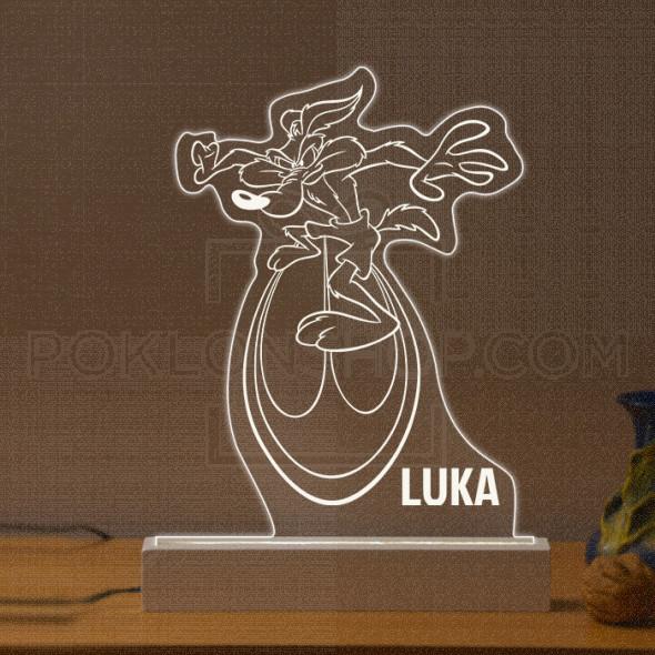 Kojot poklon lampa