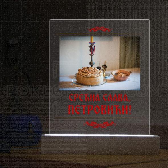 Slavski kolac poklon stona lampa