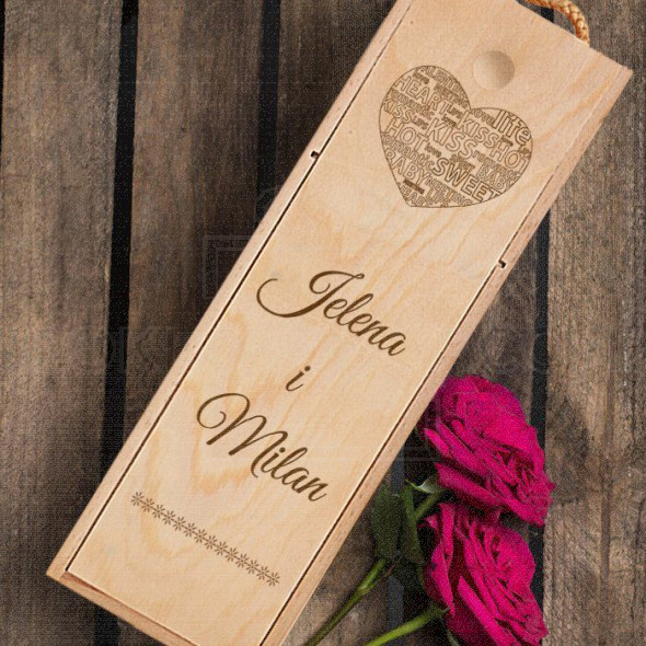 Za zaljubljene poklon kutija za vino