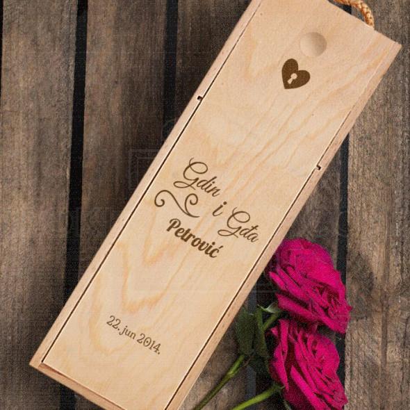 Gospodin i gospodja prezime datum poklon kutija za vino