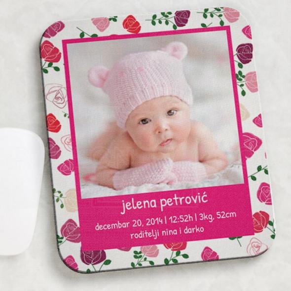 Rođenje slatke devojčice poklon podloga za miša