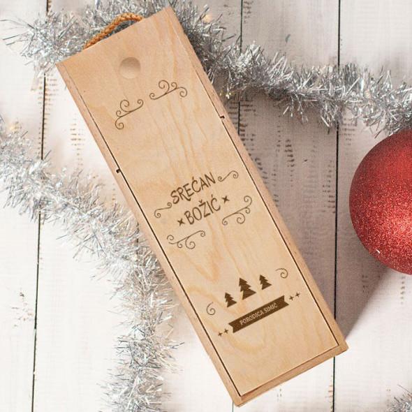 Želimo Vam srećan Božić naša porodica poklon kutija za vino