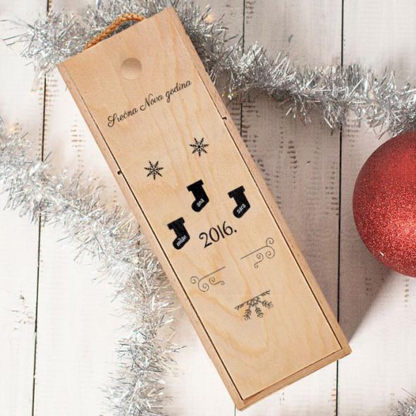 Srećna 2016 poklon kutija za vino