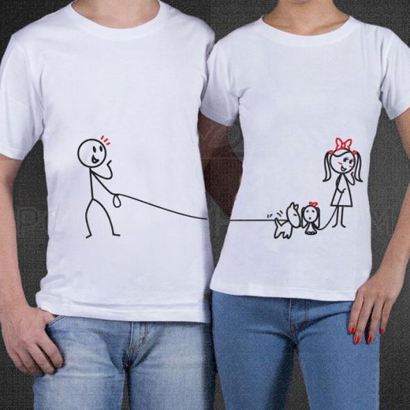 Zaljubljeni ljubimci poklon majice i duksevi