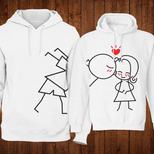 Veliki poljubac poklon majice u duksevi