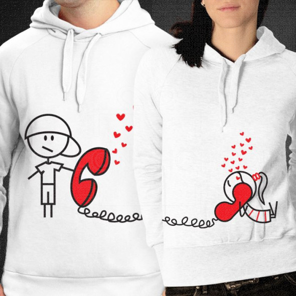 Ljubav na vezi poklon majice i duksevi