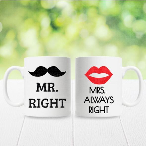 Gospodin u pravu i gospođa uvek u pravu poklon šolje