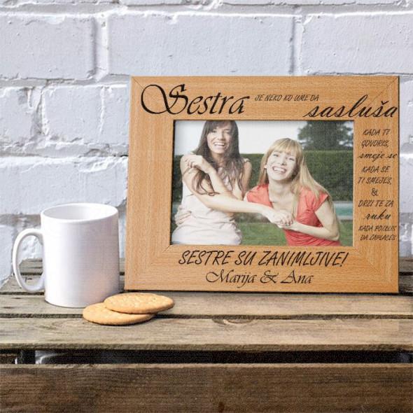 Sestre poklon ram za slike