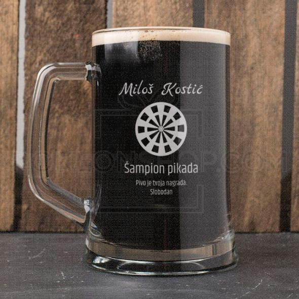 Šampion pikada poklon čaša za pivo
