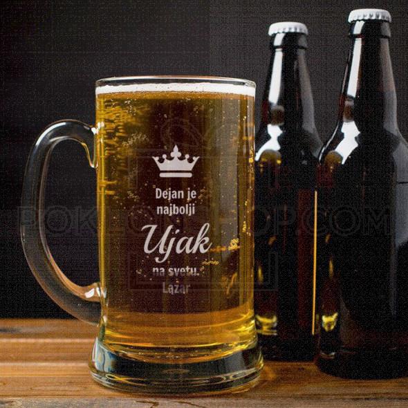 Najbolji ujak na svetu poklon čaša za pivo