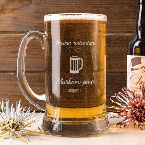 Rođendan i pivo poklon čaša za pivo