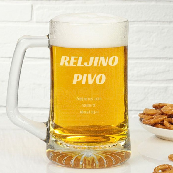 Personalizovano pivo poklon čaša za pivo