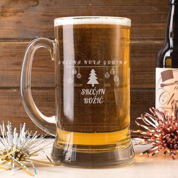 Srećni praznici poklon čaša za pivo