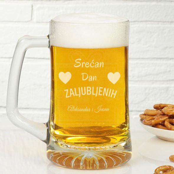 Srećan Dan zaljubljenih poklon čaša za pivo