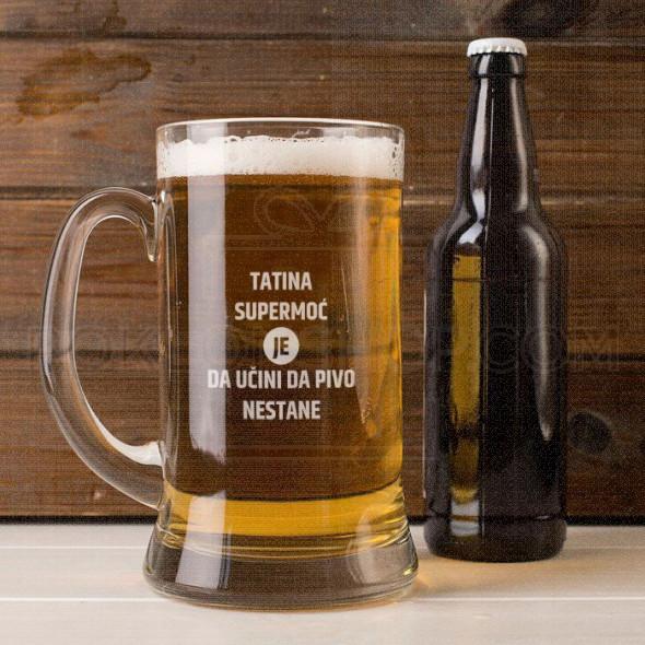 Tata ima super moći poklon čaša za pivo krigla