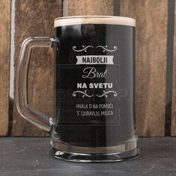 Najbolji brat na svetu poklon čaša za pivo