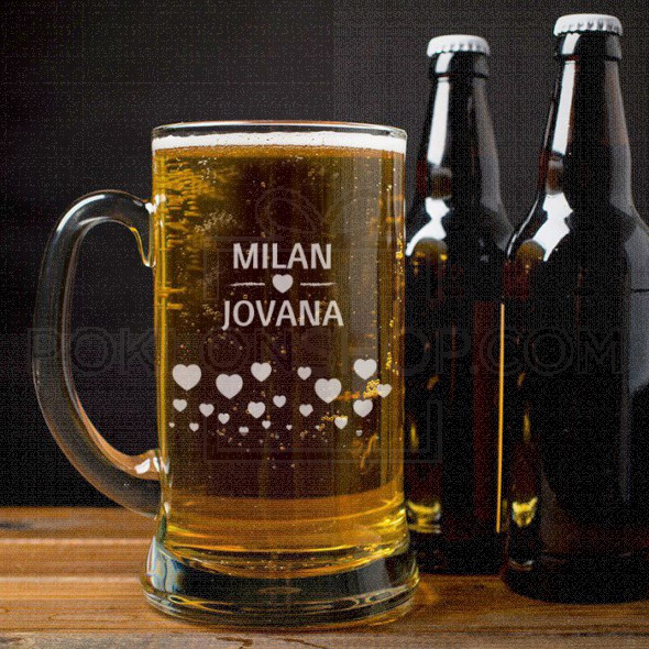 Par poklon čaša za pivo