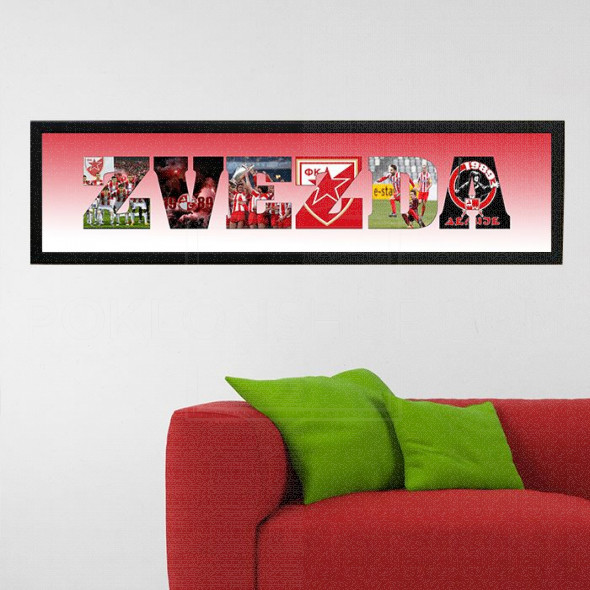 Crvena Zvezda poklon ram sa slikama