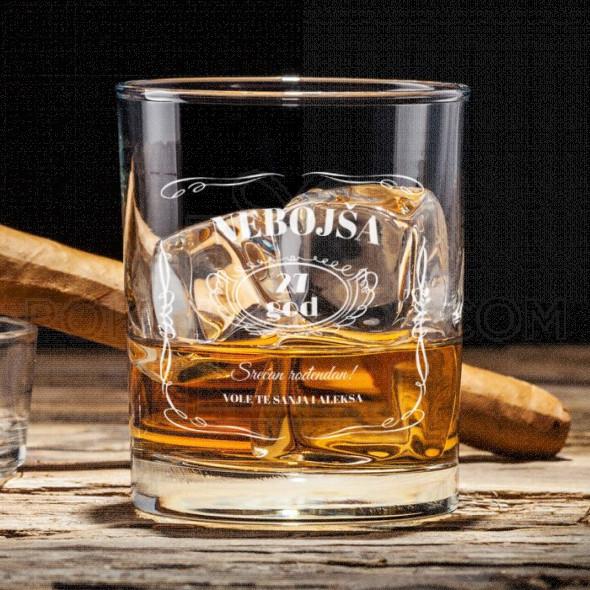 Rođendanska poklon čaša za viski