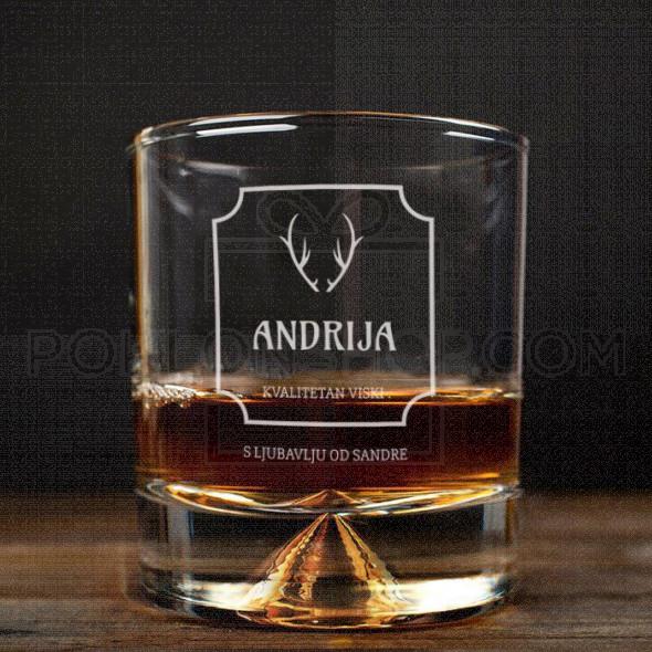 Ime sa rogovima poklon čaša za viski