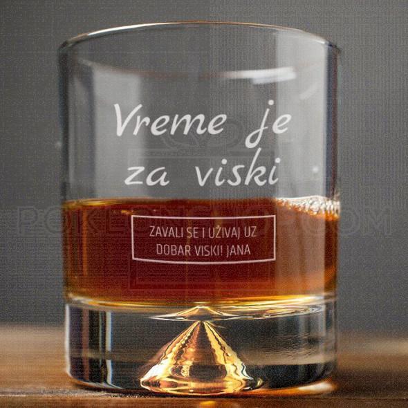 Vreme je za viski poklon čaša za viski