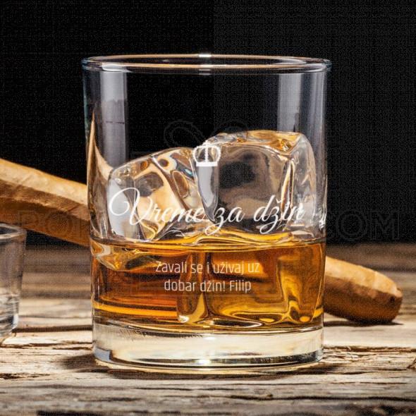 Vreme za džin poklon čaša za viski
