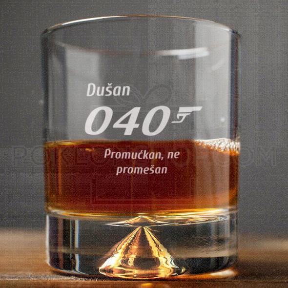 Mućkan ne mešan poklon čaša za viski