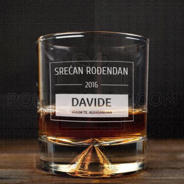 Rođendanska čestitka poklon čaša za viski