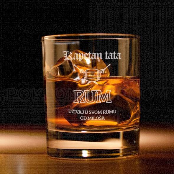 Kapetan tata poklon čaša za viski