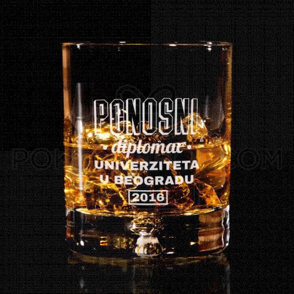 Ponosni diplomac poklon čaša za viski