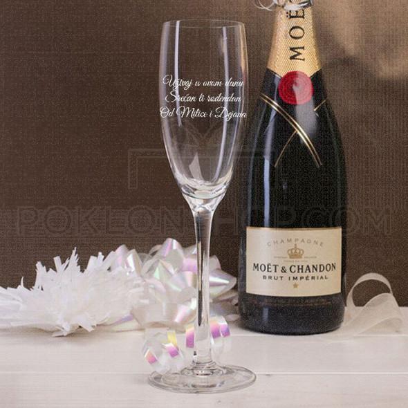 Srećan rođendan poklon čaša za šampanjac