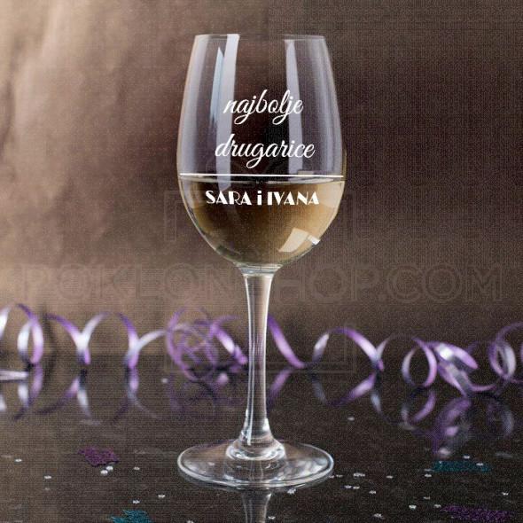 Najbolje drugarice poklon čaša za vino