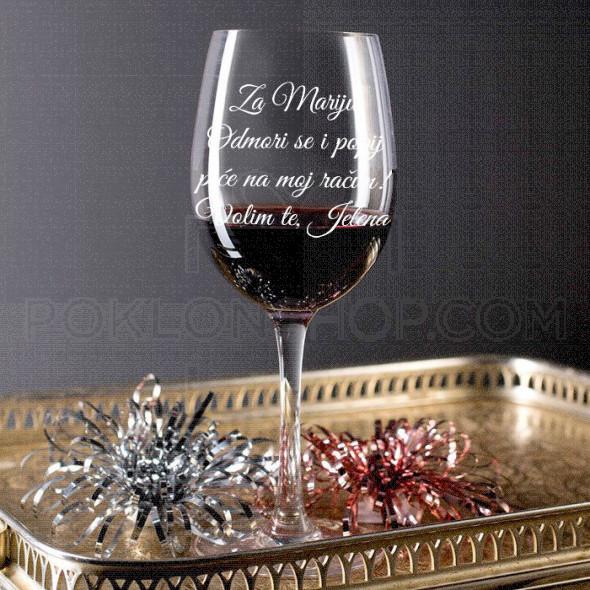 Popij piće na moj račun poklon čaša za vino