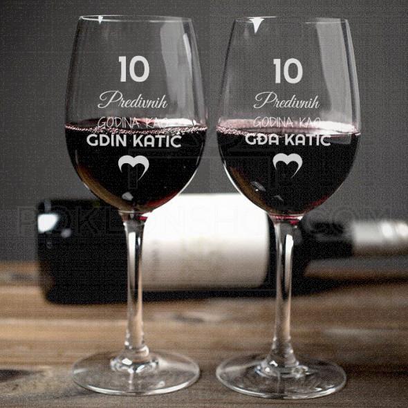 Predivne godine poklon čaša za vino
