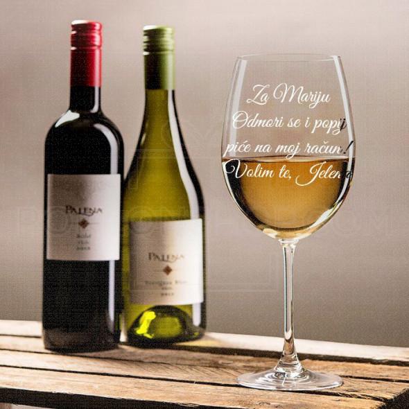 Popij piće na moj račun  poklon čaše za vino