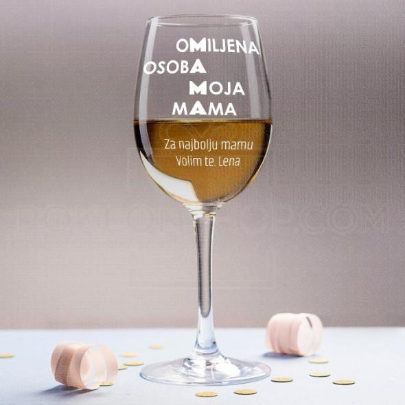 Omiljena osoba poklon čaše za vino