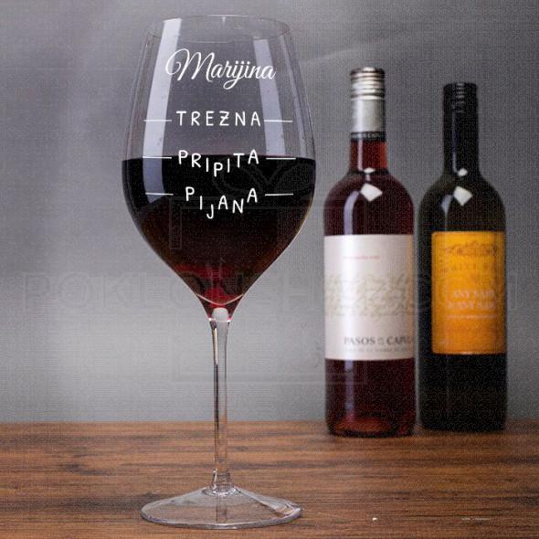 Merilo  poklon čaša za vino